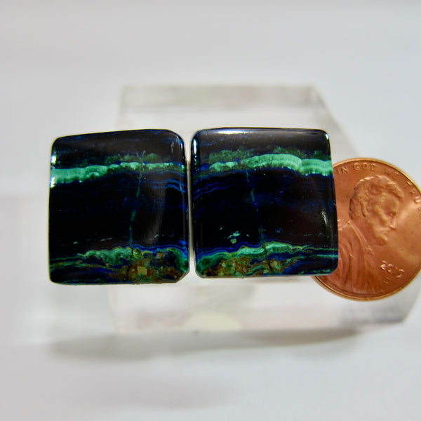 Azurite Malachite Pair V 472