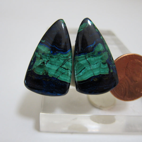 Azurite Malachite Pair V 457