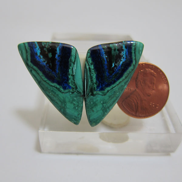 Azurite Malachite Pair V 455