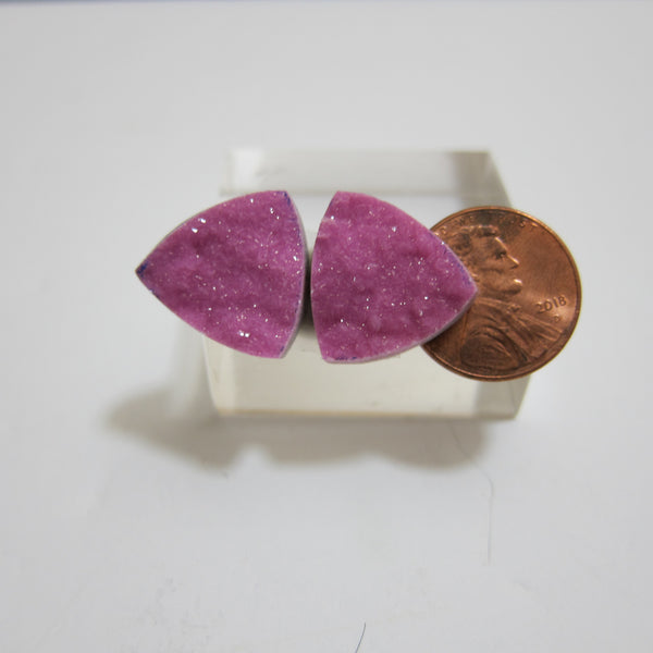 Cobalt Calcite Pair X 120