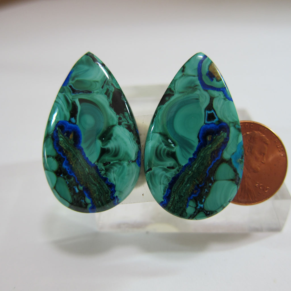 Azurite Malachite Pair V 476