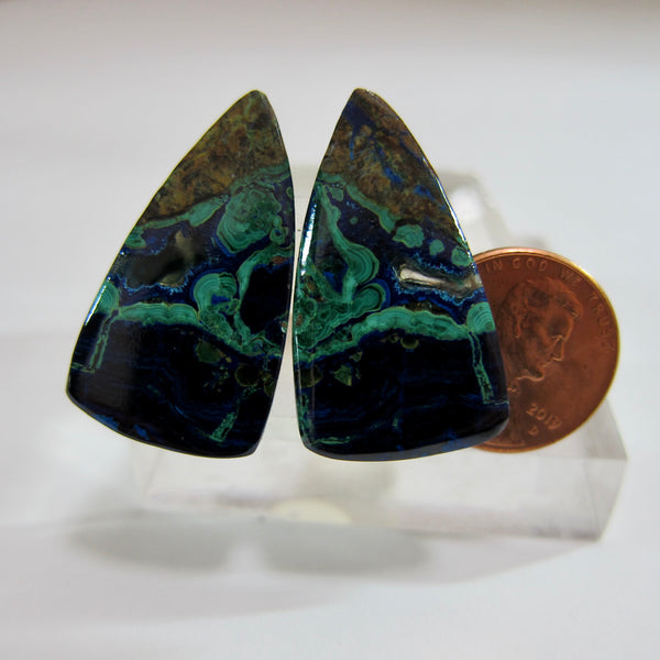 Azurite Malachite Pair V 473