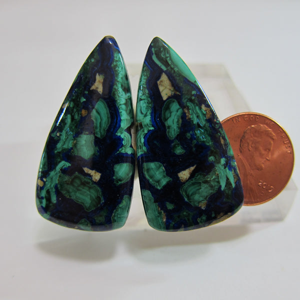 Azurite Malachite Pair V 478