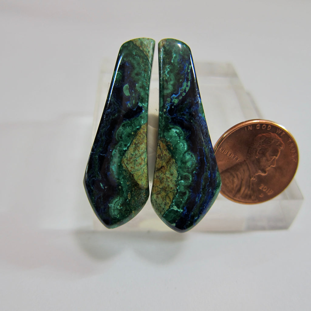 Azurite Malachite Pair V 486