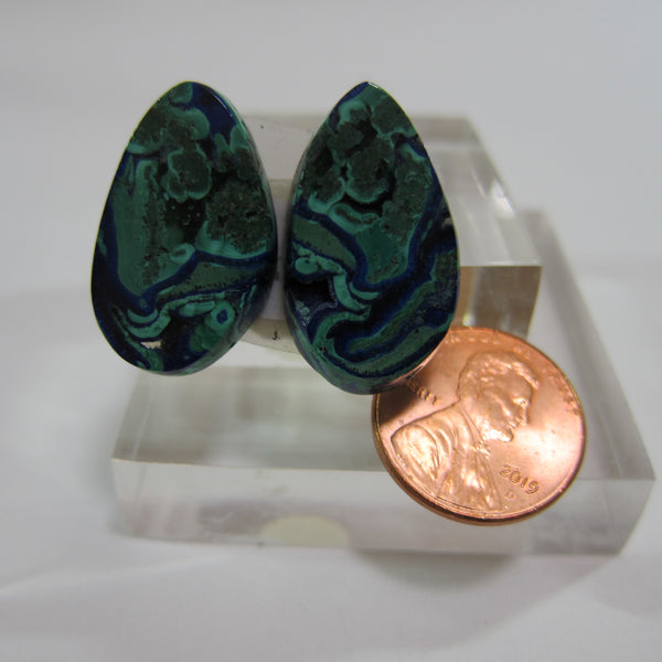Azurite Malachite Pair V 461