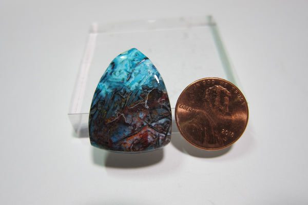 Blue Opal with Native Copper V 208