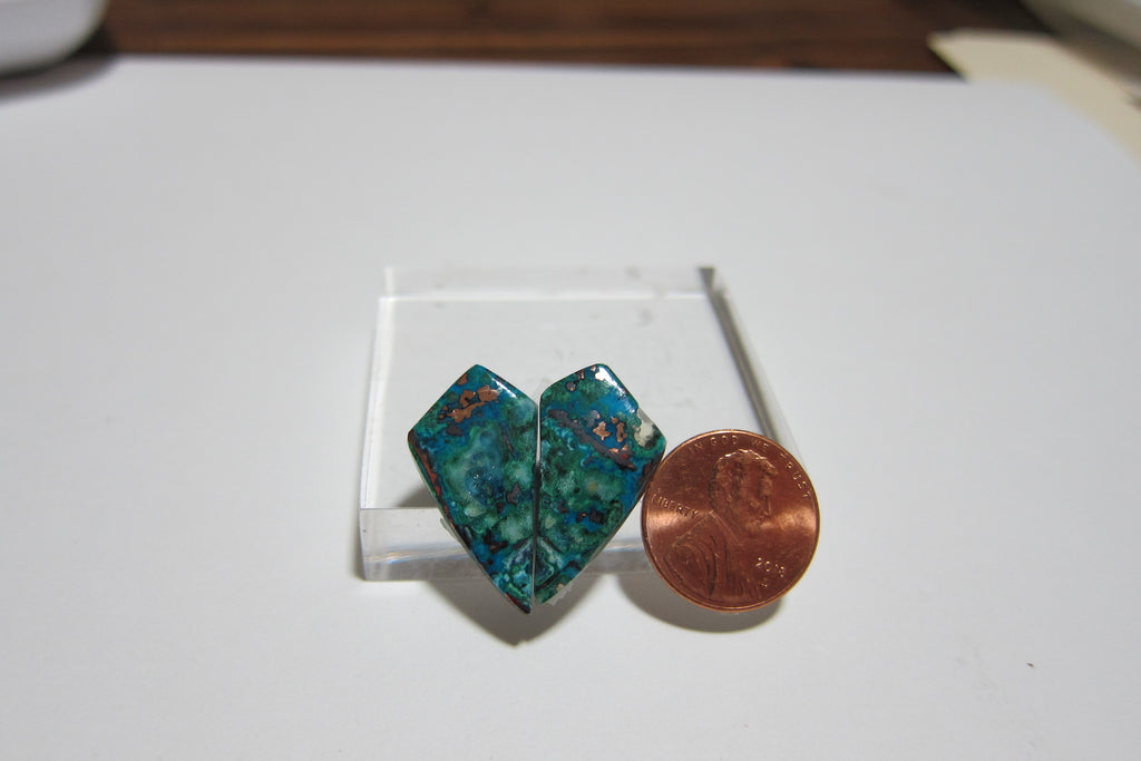 Blue Opal with Native Copper Pair