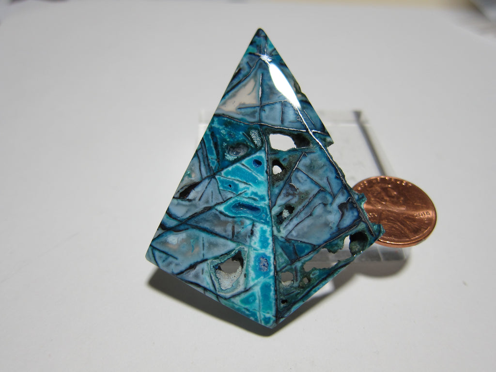 Blue Opal with Native Copper Pendant V 282