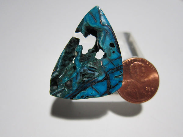 Blue Opal with Native Copper Pendant V 323