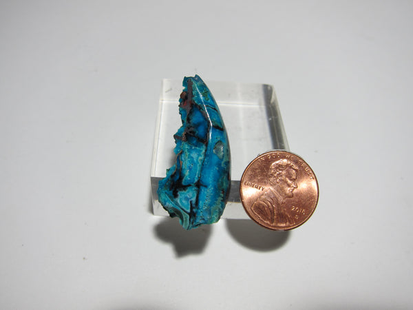Blue Opal with Native Copper Pendant V 326