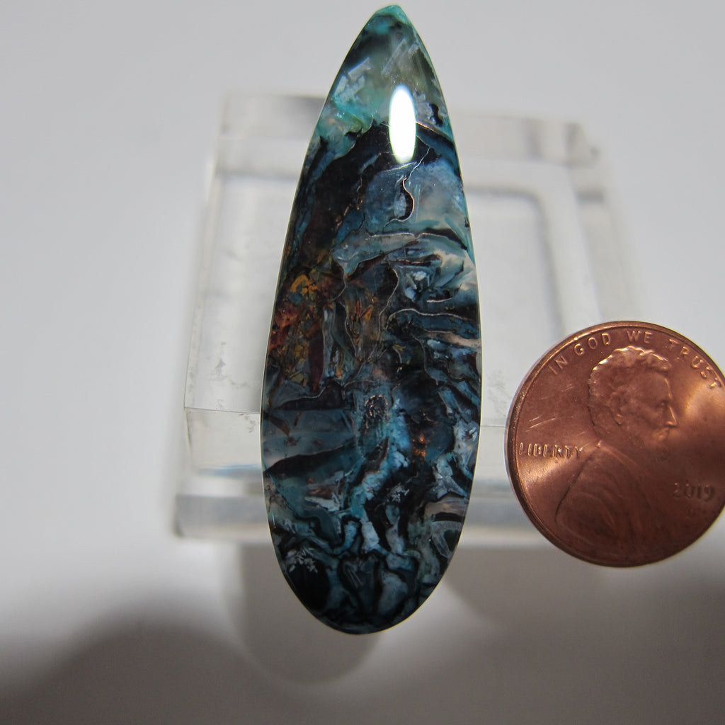 Blue Opal with Native Copper Y 133
