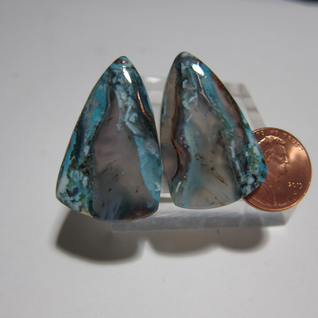 Blue Opal with Native Copper Pair Y 153