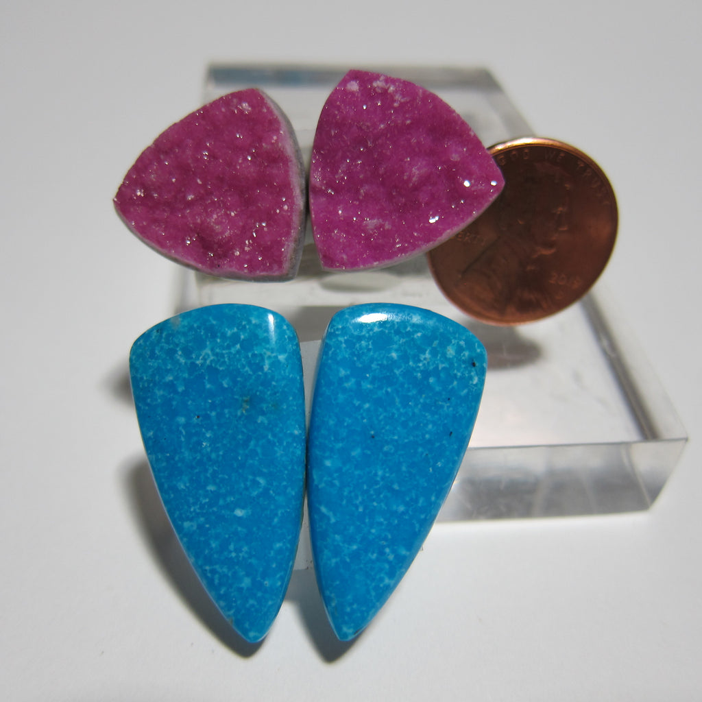 Cobalt Calcite and Turquoise Set X 119