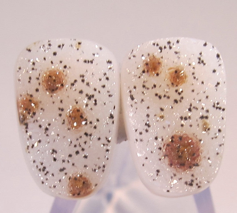Natural Colored Druzy Pair
