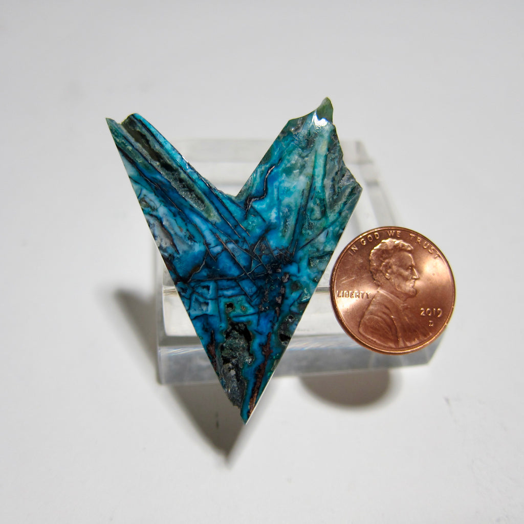 Blue Opal with Native Copper Y 154