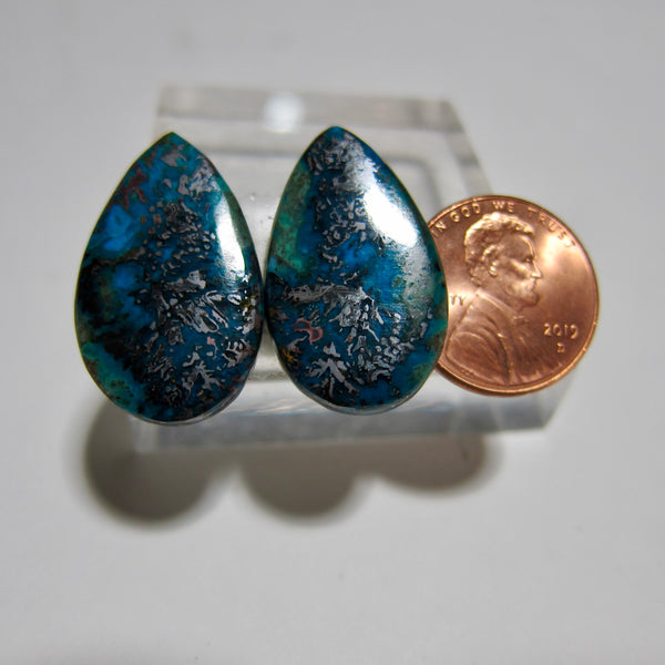 Blue Opal with Native Copper Pair Y 137
