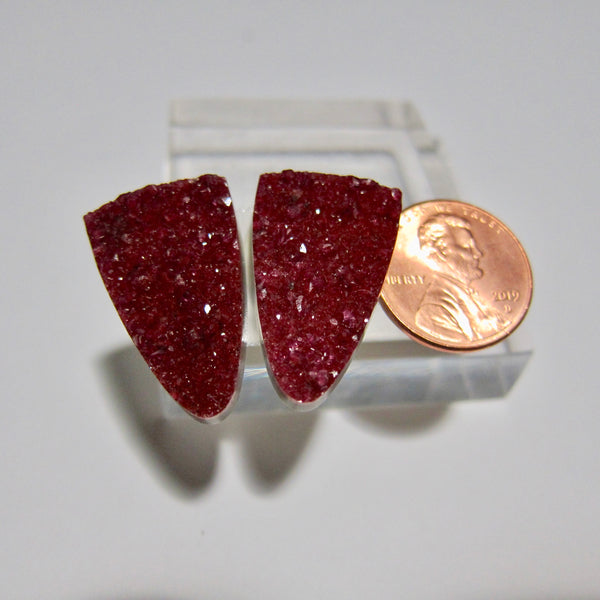 Cobalt Calcite Pair X 103