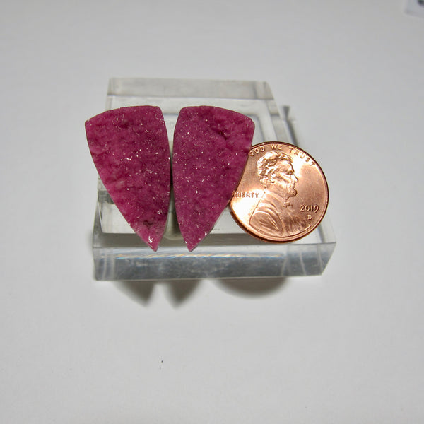 Cobalt Calcite Pair X 107