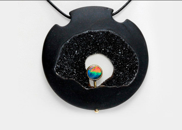 Druzy and Opal Disk Jewelry