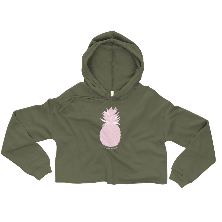 Crop Pineapple Hoodie - L A G O O N DESIGNS