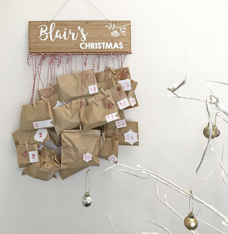 Arlo & Co Christmas Advent Plaque for making your own DIY Christmas Advent Calendar