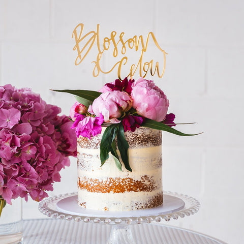 DIY No Bake Naked Cake + Cake Topper Inspiration & New Personalised Cake Toppers