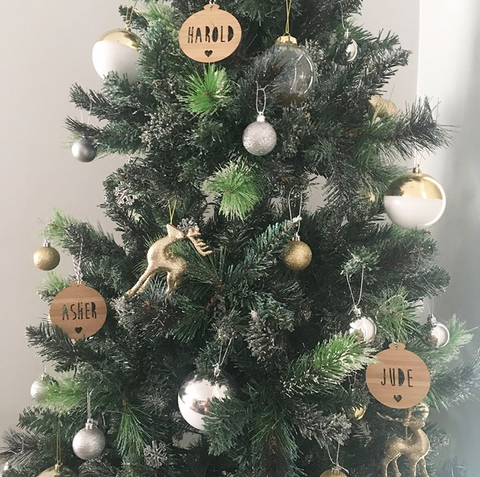 Arlo & Co personalised Christmas ornaments
