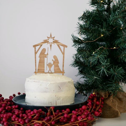 CHRISTMAS NATIVITY CAKE TOPPER - If your Christmas calls for a nativity event, our Christmas Nativity Cake Topper might come in handy.