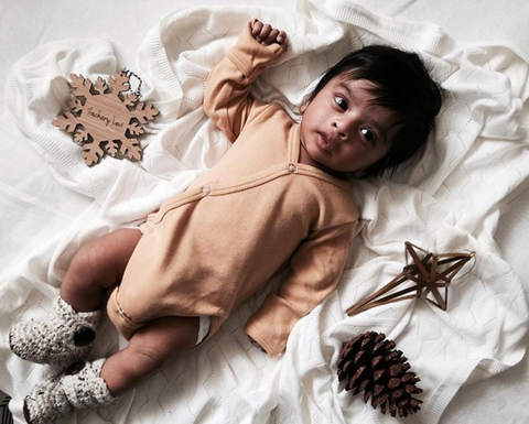 Arlo & Co Personalised Bamboo Snowflake Ornament