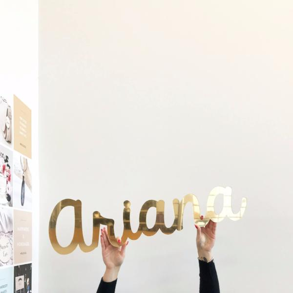 SUPERSIZED NAME PLAQUE