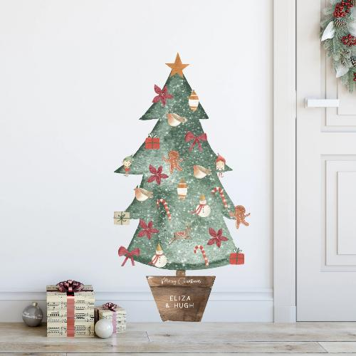 PERSONALISED ADVENT TREE DECAL