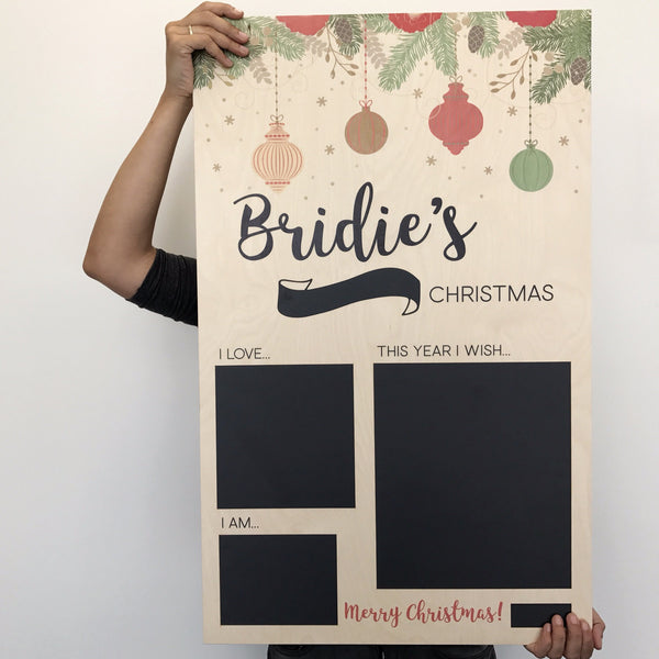 Printed Christmas Board