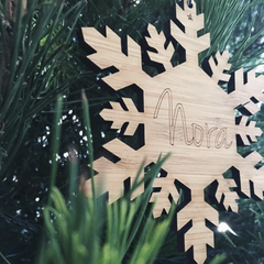 BAMBOO SNOWFLAKE ORNAMENT - Arlo and Co