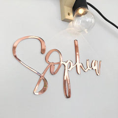 ROSE GOLD NAME PLAQUE - Arlo and Co