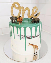 Bamboo Name Cake Topper - Arlo and Co