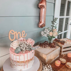 Bamboo Name Cake Topper - Arlo & Co