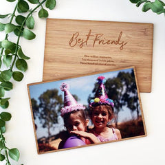 Bamboo Photo Card (Double-Sided, With Stand) - Arlo and Co