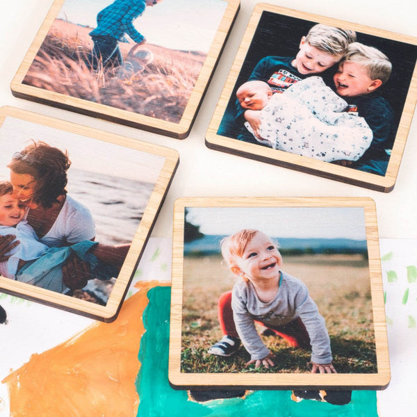 Bamboo Photo Magnet Set