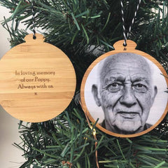 Bamboo Photo Ornament - Arlo and Co