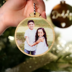 Bamboo Photo Ornament - Arlo & Co