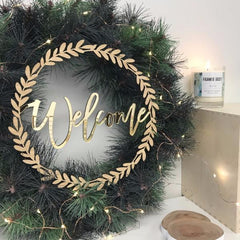 Christmas 'Welcome' Wreath - Arlo & Co