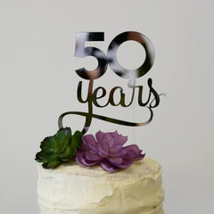 Custom Anniversary Cake Topper - Arlo and Co