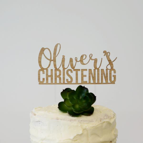 Custom Christening Cake Topper