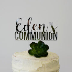 Custom Communion Cake Topper - Arlo and Co