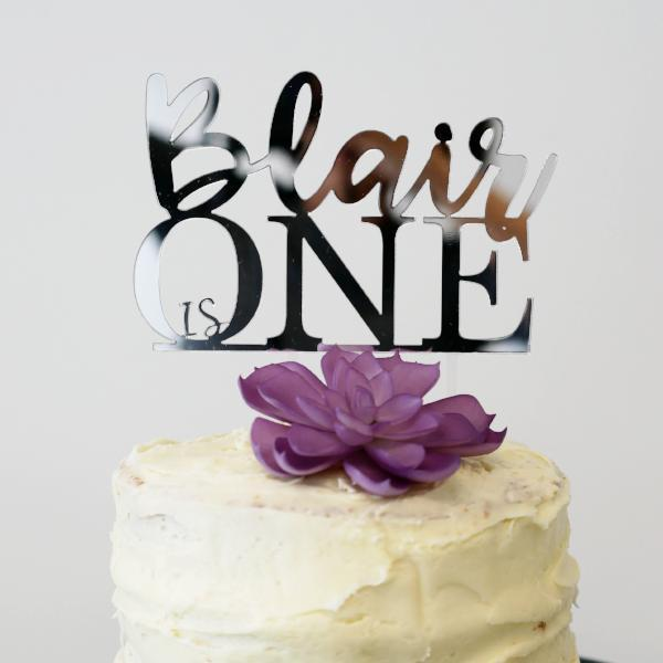 Awesome Custom First Birthday Cake Topper Funny Birthday Cards Online Alyptdamsfinfo