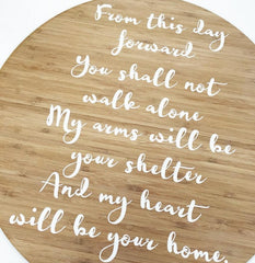 Custom Quote Plaque - Arlo and Co