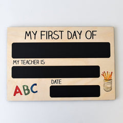First Day Milestone Board - Arlo and Co