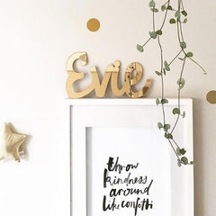Gold Mirror Name Plaque - 4 Fonts, 3 Sizes - Arlo and Co