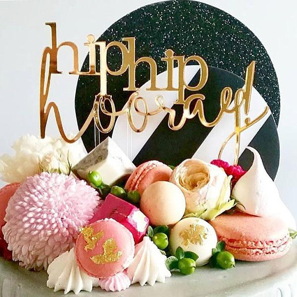 'Hip Hip Hooray' Cake Topper