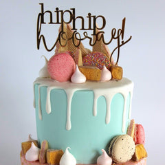 'Hip Hip Hooray' Cake Topper - Arlo and Co